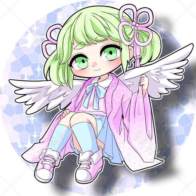 〜SALE中〜ちびキャラ天使っ子(背景透過有り)
