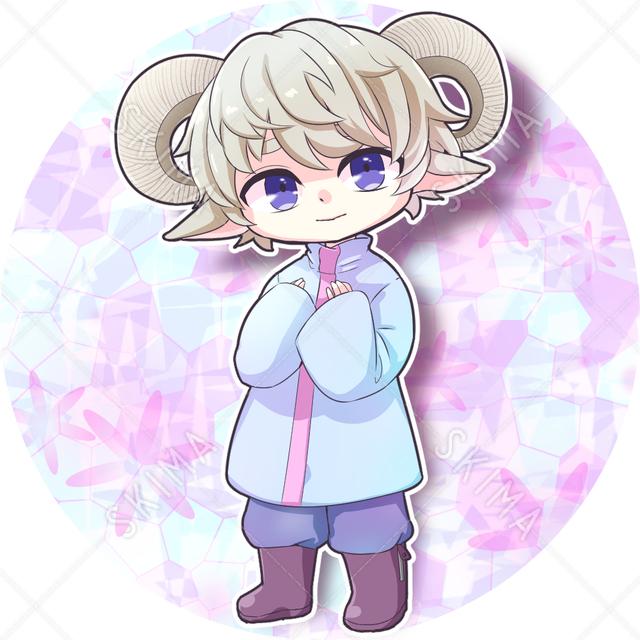 〜SALE中〜ちびキャラ羊っ子(全身・背景透過あり)