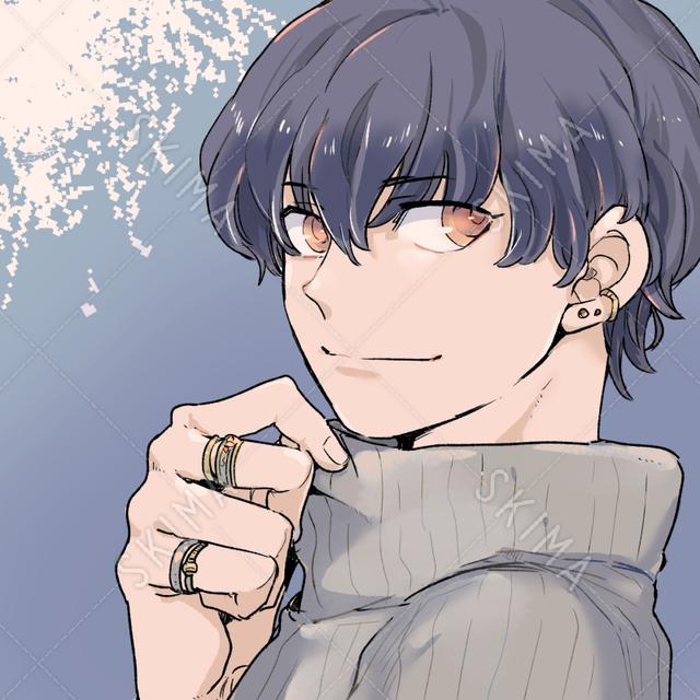 SNSアイコン用・セーターの男の子