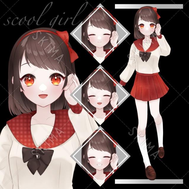 赤い制服の女の子