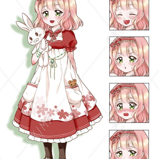 女の子【花】