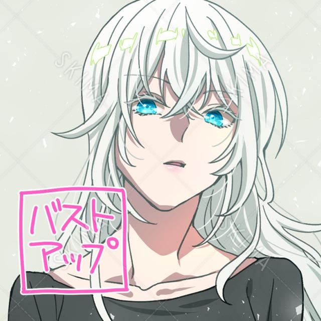 【アイコン等】儚い雰囲気の女性【商用利用可】