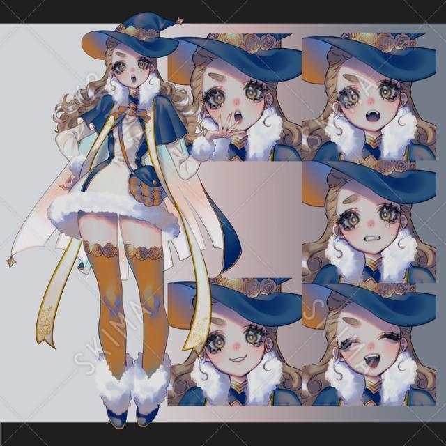 adopt表情5種【魔法少女①】
