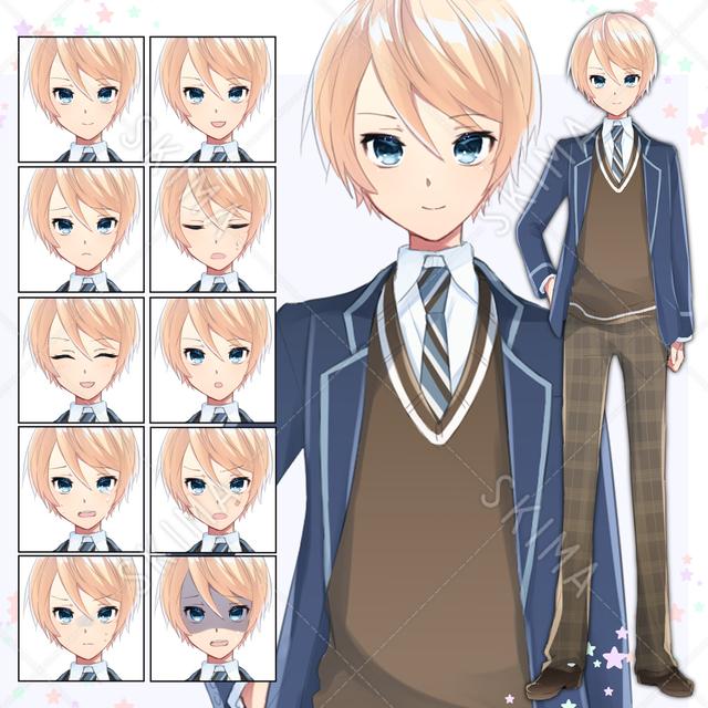 制服の美少年【表情差分10種】