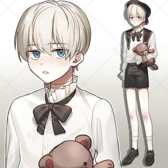 白髪少年01/表情5種