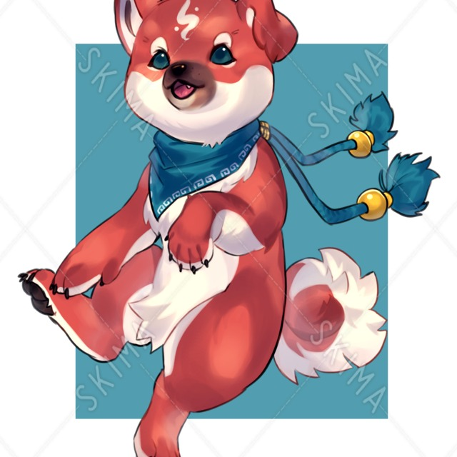 子犬のマスコット(立ち絵)