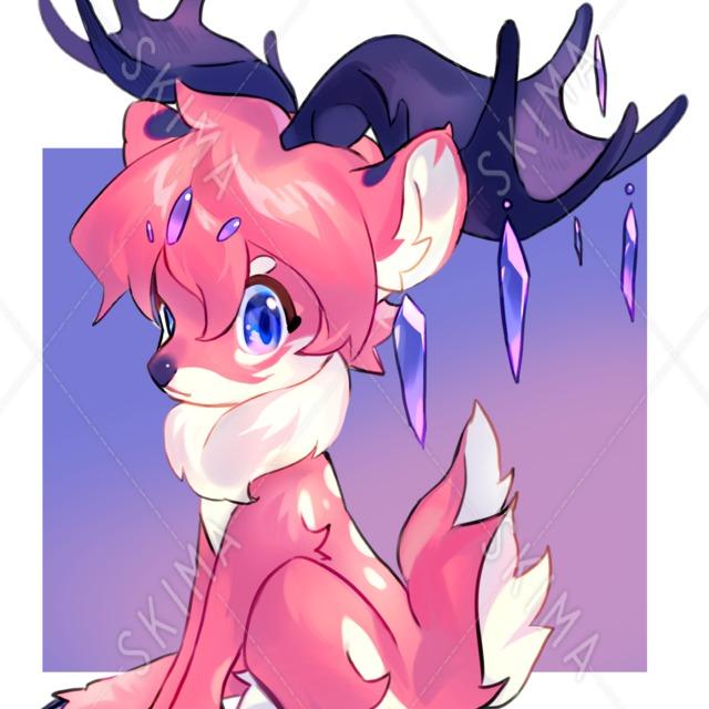 ピンクな小鹿(立ち絵)
