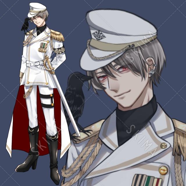 【立ち絵】軍服(白)【差分9種】