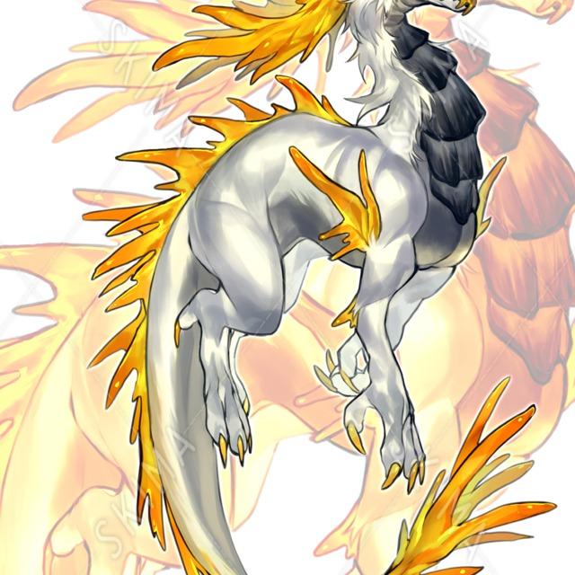 コハクドラゴン(立ち絵)