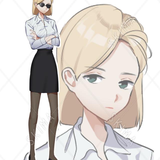 スーツの女性キャラ2種セット