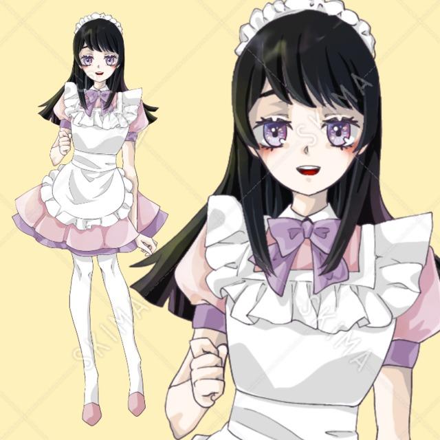 【IRIAM対応】ピンクメイド女子
