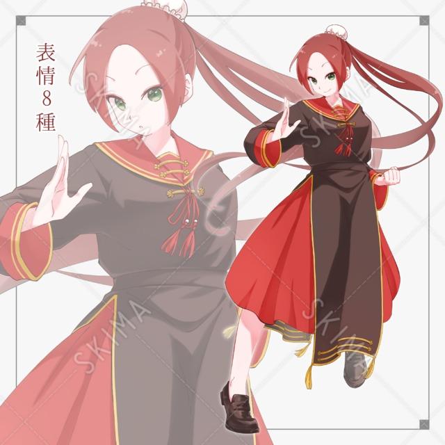 中華風セーラー服少女