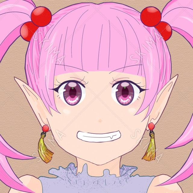 いたずら好きな女の子 ピンク アイコン