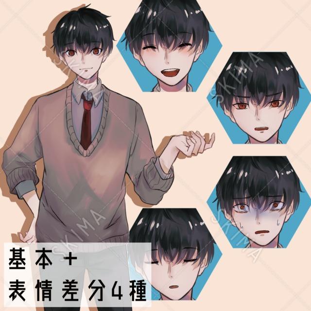 男子学生【差分4種】