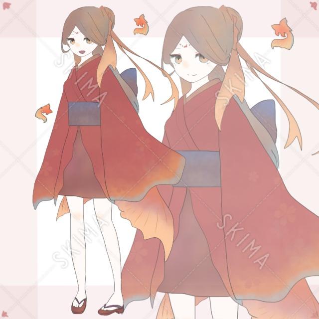 金魚姫(表情差分7種類)