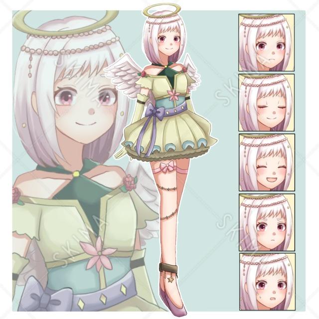 天使の少女【表情6種】