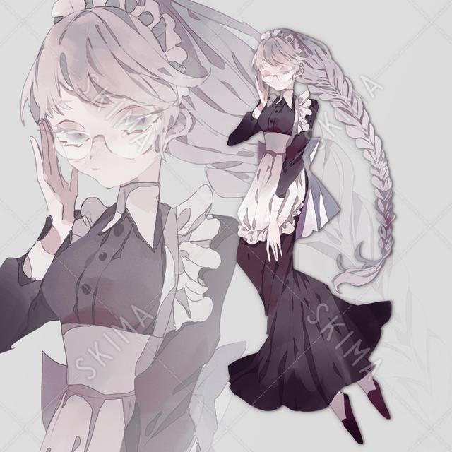 白髪メイド