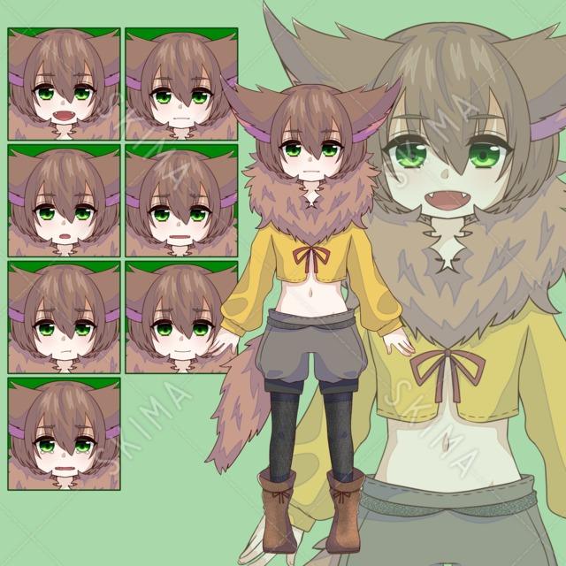 けものっ娘〈表情7種〉
