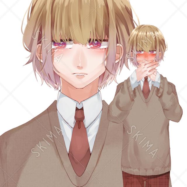 照れ屋の少年【表情差分】