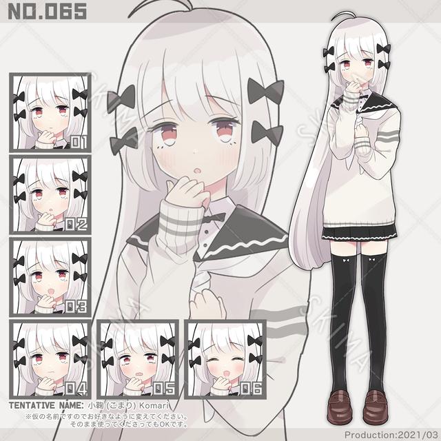 065、気弱なモノクロ系美少女