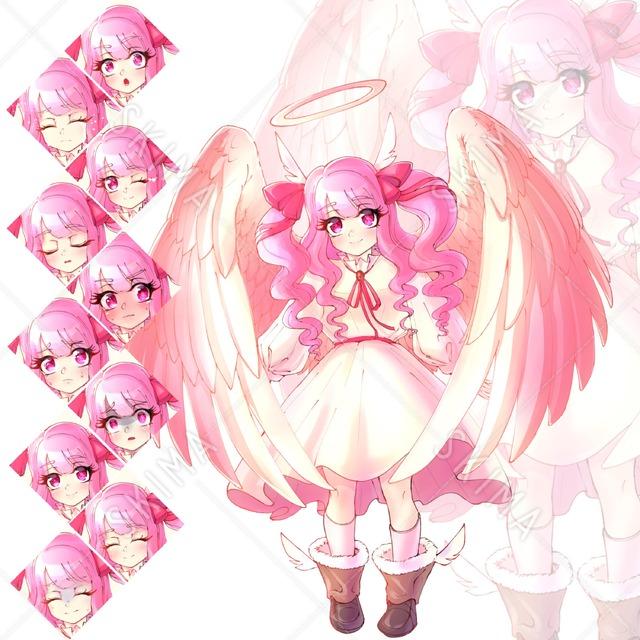天使少女【表情差分10種類】