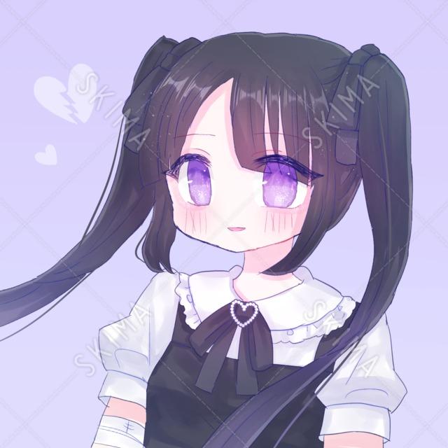 【SNSアイコン】病みかわいいメンヘラっぽい女の子
