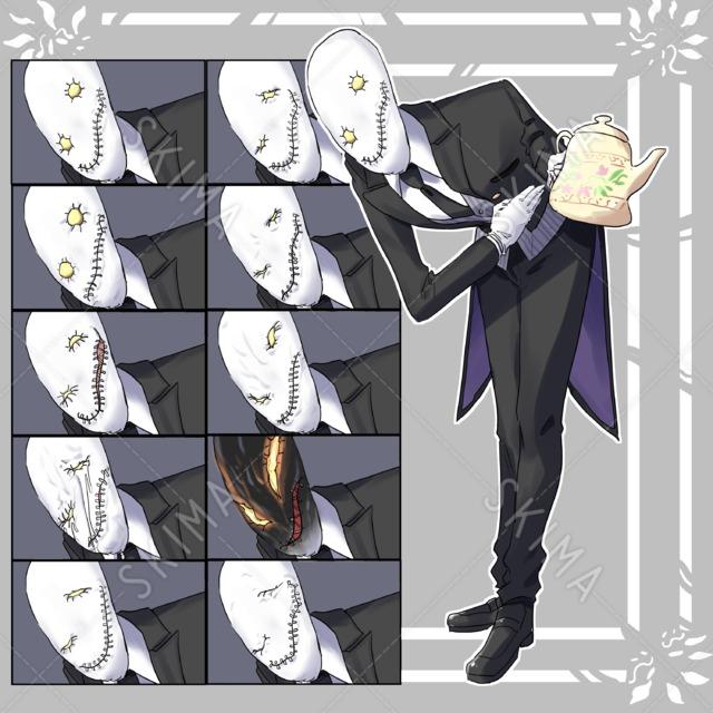 【表情差分10種】異形紳士【立ち絵】