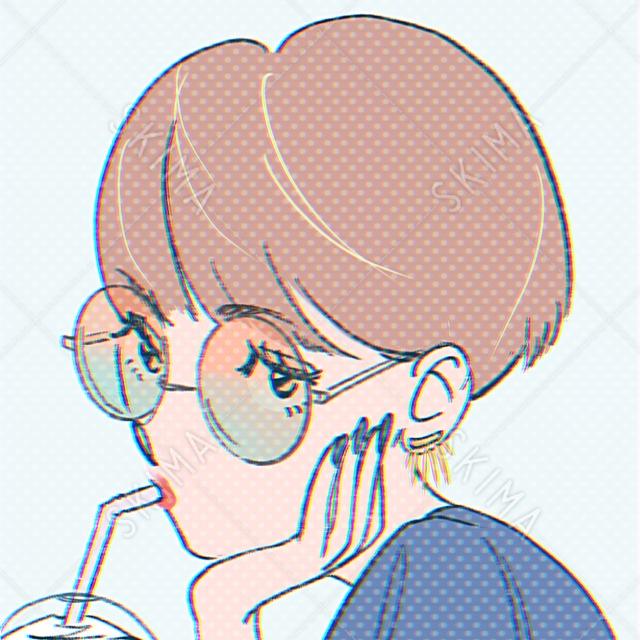 【アイコン】レトロポップな女の子