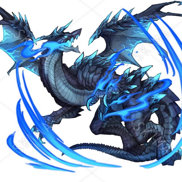 モンスター 炎属性ドラゴン 水色×黒