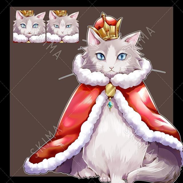 王様猫【表情3種】