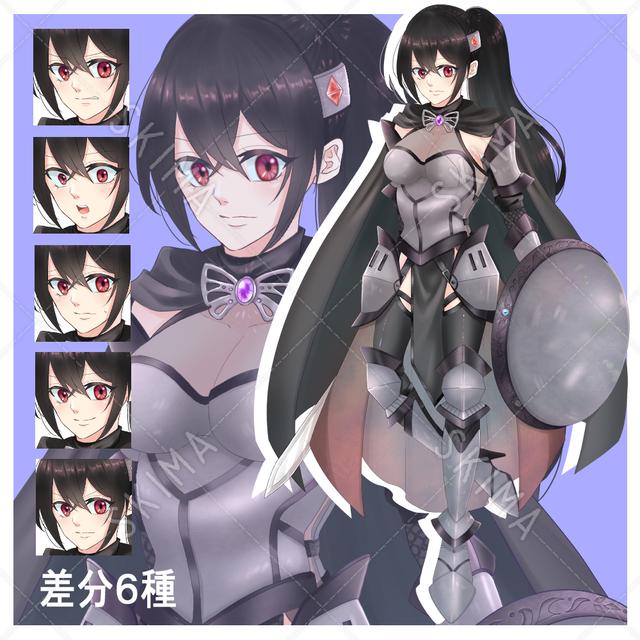 女騎士 剣盾持ち 鎧
