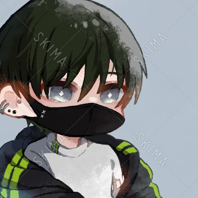 【デフォルメキャラ】 黒マスクの男の子