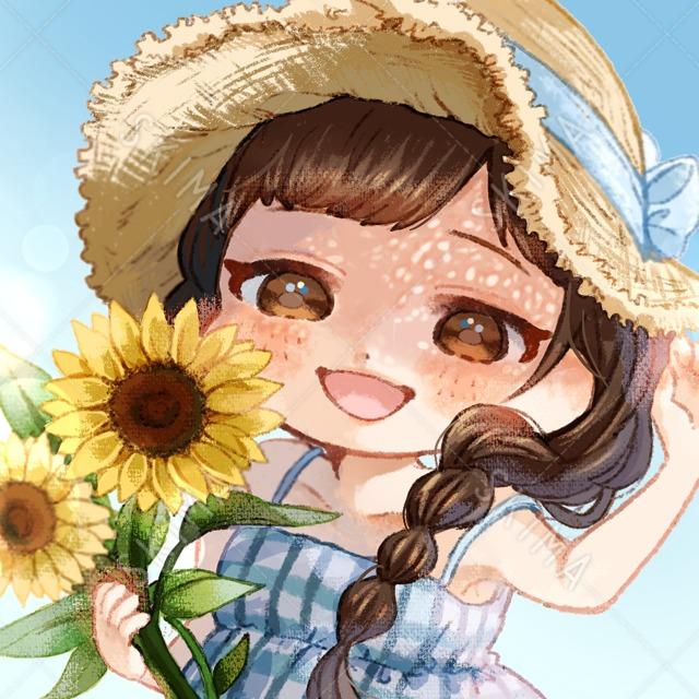 【デフォルメキャラ】向日葵と女の子アイコン🌻