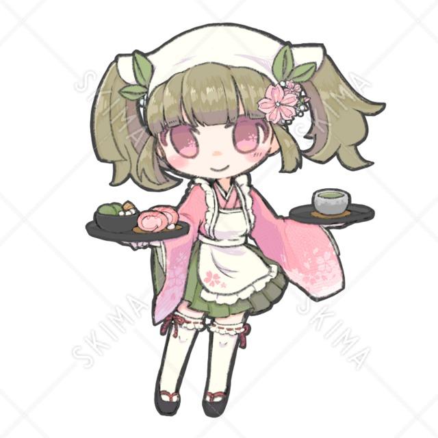 桜×和風カフェ 女の子