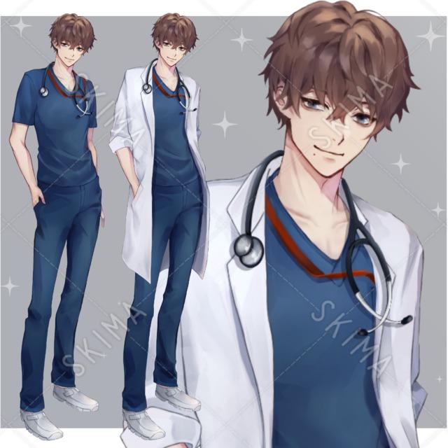 医者(白衣あり、無し)