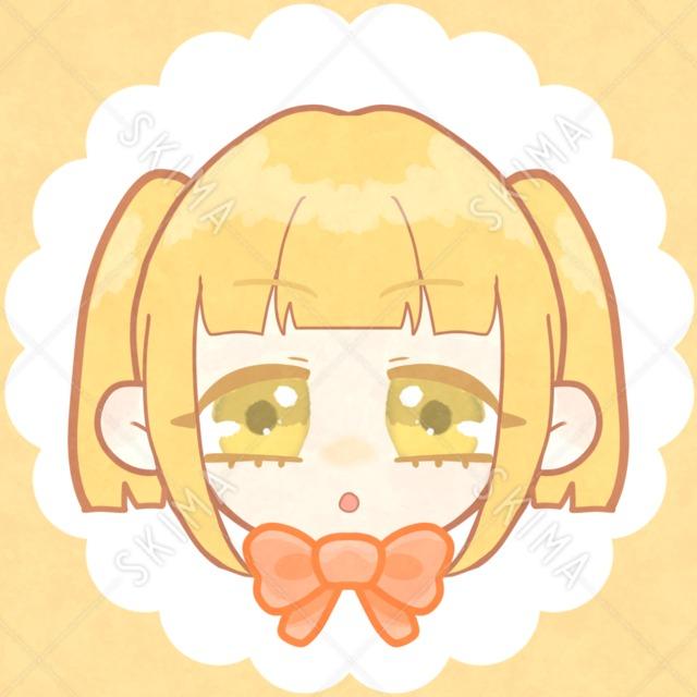 可愛い女の子アイコン(黄色)