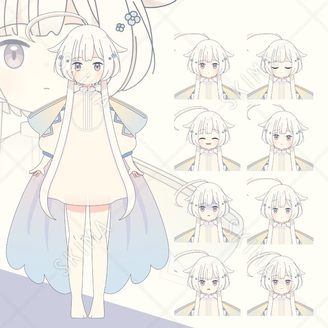 【表情8種】涙モチーフ×少女