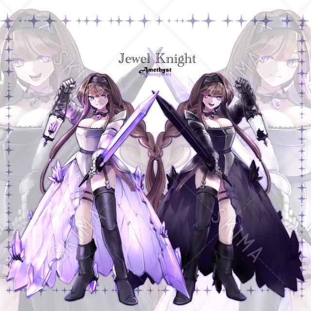 【差分9種】宝石騎士アメジストの立ち絵【SD付き】