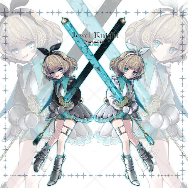 【差分9種】宝石騎士ターコイズの立ち絵【SD付き】