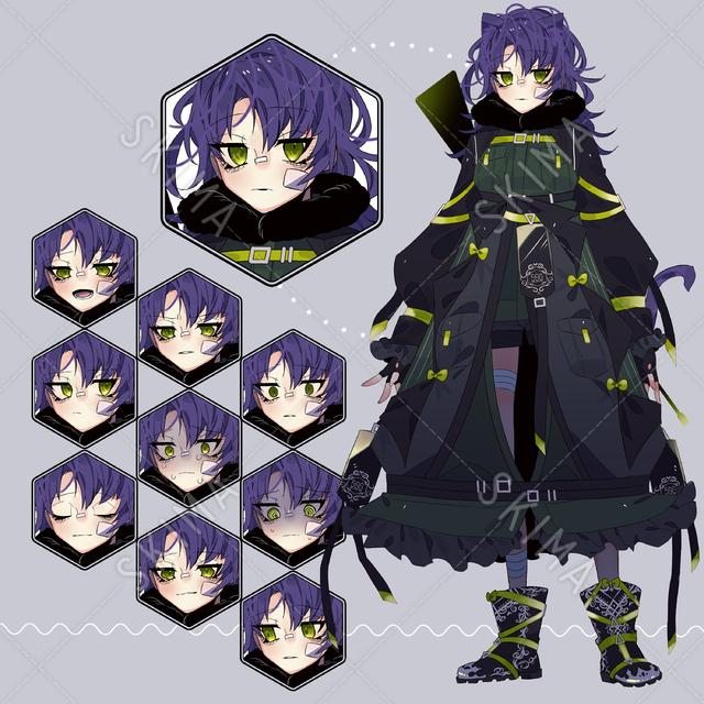 ミリタリーな女の子【表情差分10種類】