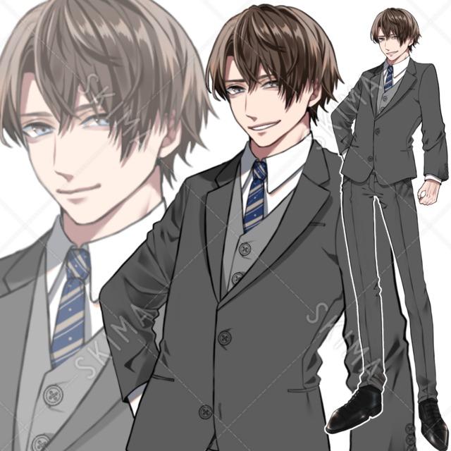 【立ち絵】スーツ【表情7種】