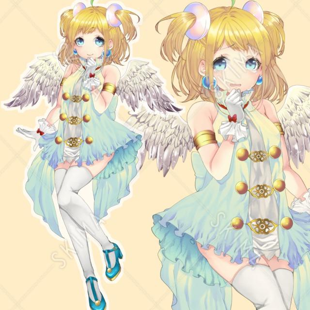天使っぽい子(表情10種)