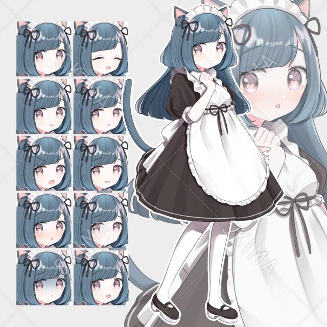 猫メイド【表情10種】