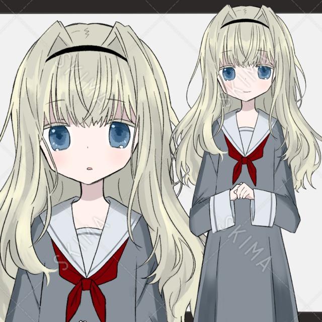 【表情差分8種】金髪の女の子