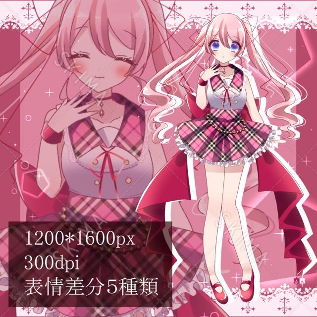 【商用利用可】Adopt アイドル少女2【表情差分5種類】