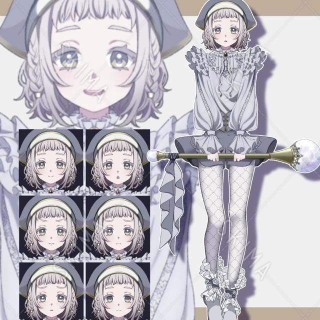 ファンタジー風の少女【表情差分8種】
