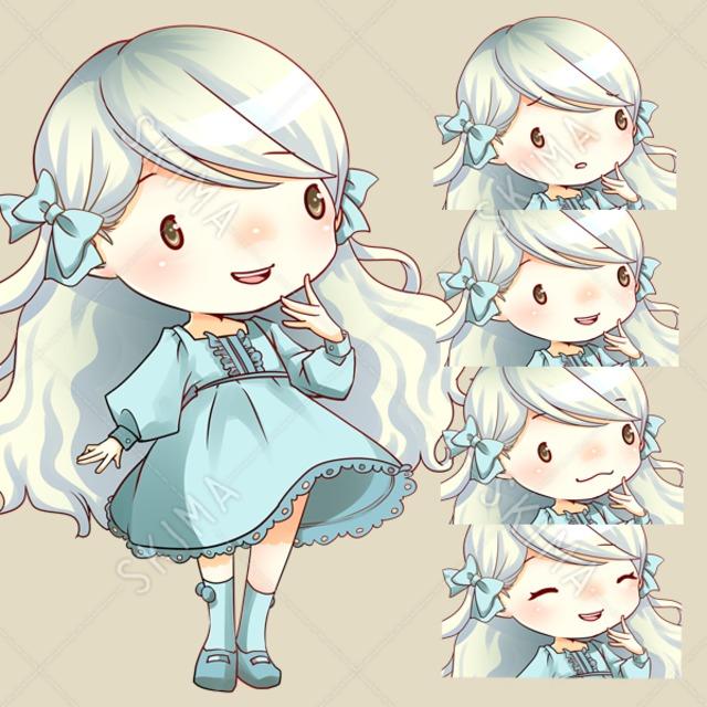 【ちびキャラ】白い女の子