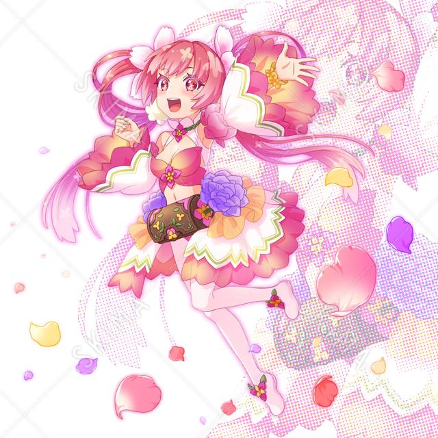 ブルーミングシャワー 花の妖精の女の子