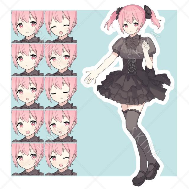 ぽわっとしたピンク髪女子