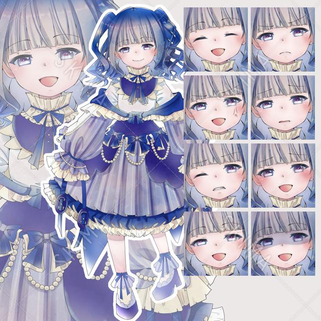 【表情10種類】フリフリな幼女